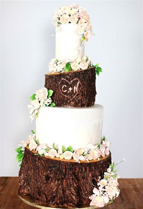 666 Best Images About Wedding Cakes Woodland On
