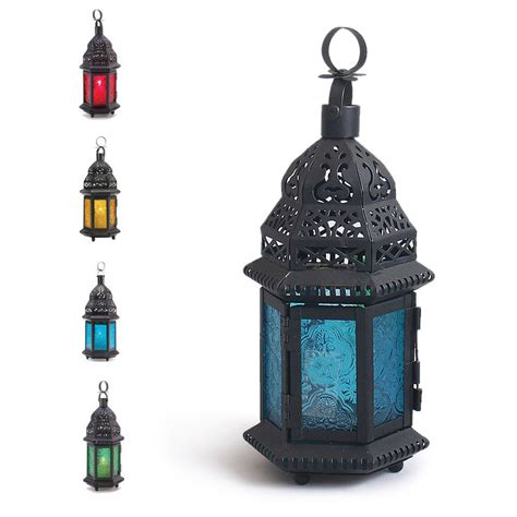 lantern table l cool glass metal moroccan delight garden candle holder