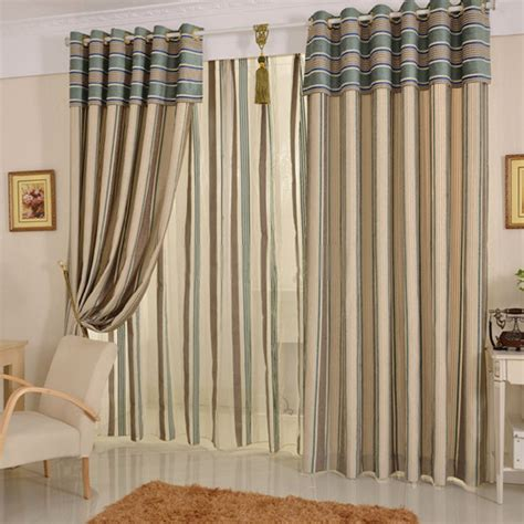 Mediterranean Striped Style Bedroom Or Porch Curtains