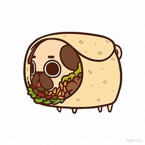 """""""Puglie Burrito"""" by Puglie Pug Redbubble"""