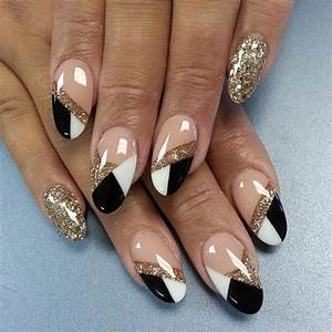 Gold Acrylic Nail Designs For 2017 New - Styles Art