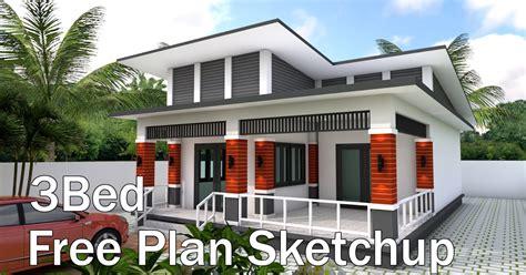 Bungalow House Design 9x13 5 Meter With 3 Bedrooms