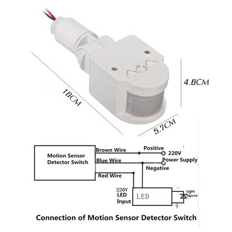 3 wire motion sensor wiring diagram outdoor led security infrared pir motion sensor detector