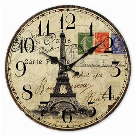 Decorative Clock - retro vintage large clock world map globe home decorative