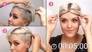 Tuto Coiffure Cheveux Court : tuto coiffure cheveux tr s court femme coiffure simple ~ Melissatoandfro.com Idées de Décoration