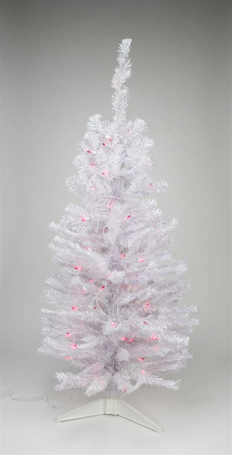 2 pre lit white iridescent pine artificial tree