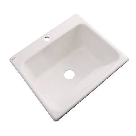 acrylic undermount kitchen sinks thermocast kensington undermount acrylic 25 in single 3980
