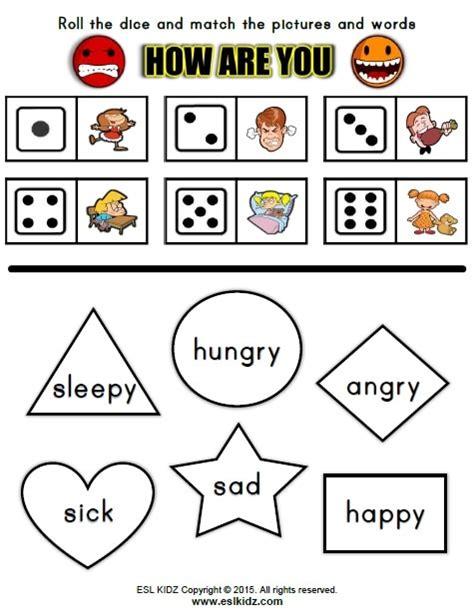 feelings activities games  worksheets  kids