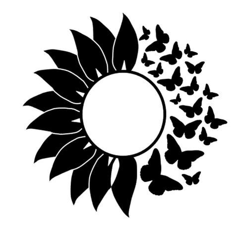 butterfly sunflower vinyl decal sticker  home