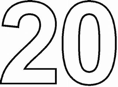 Number Coloring Twenty Numbers Getcoloringpages