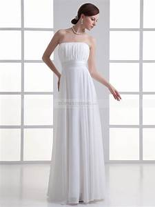 strapless chiffon floor length column wedding dress with With column wedding dress