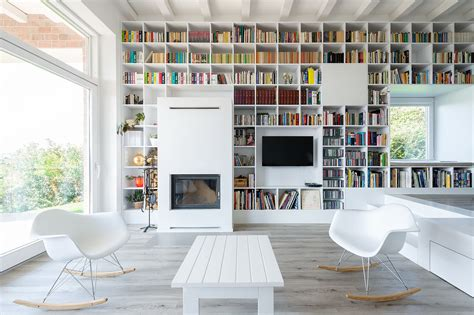 home interior books minimalist house with a wall of books idesignarch