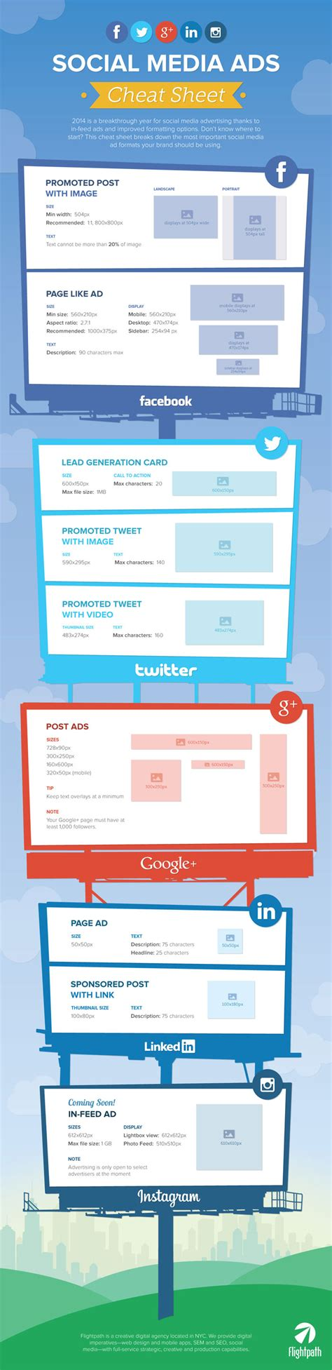 essential social media ad sizes cheat sheet