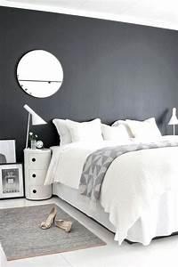 Chambre Parentale Cosy : deco chambre gris et blanc decoration chambre gris blanc noir ~ Melissatoandfro.com Idées de Décoration