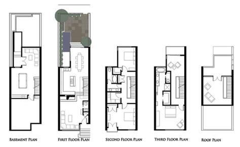 photo of row houses floor plans ideas robert hallock design projects a philadelphia rowhouse
