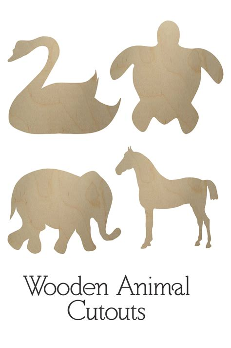 wooden animal cutouts wooden animal shapes bcrafty company
