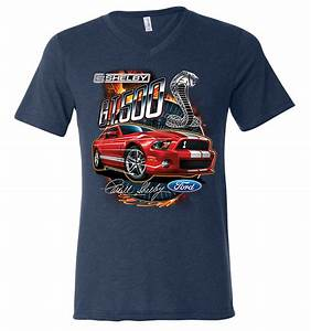 Ford Mustang Mens Shirt Red Shelby GT 500 Tri Blend V-neck Tee T-Shirt - Ford Mustang Shirt Red ...