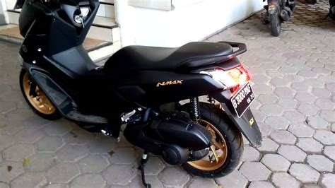 Nmax 2018 Black Gold by Yamaha Nmax Stealth 2016 With Tsukigi Exhaust