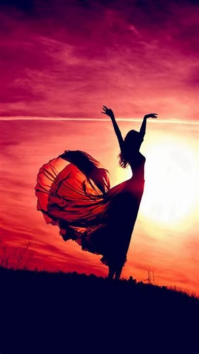 Aesthetic Sunshine Dancing Iphone Beauty Wallpapers Pink