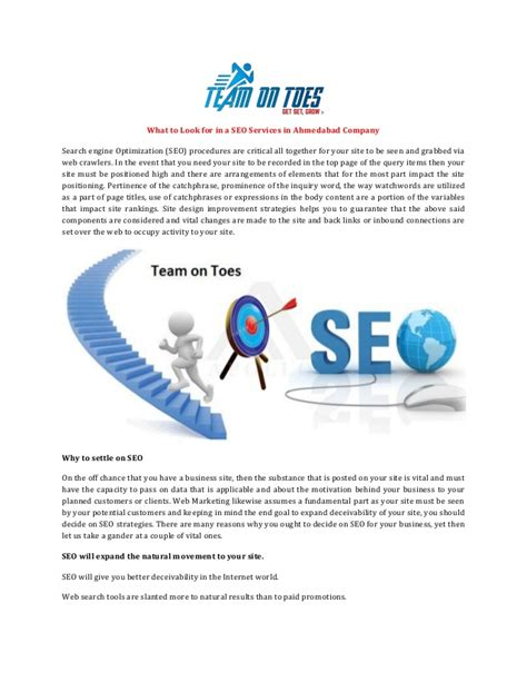 looking for seo what to look for in a seo services in ahmedabad company