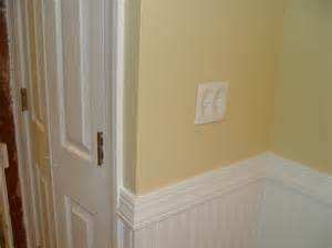 chair rail w bead board wainscoting for the home