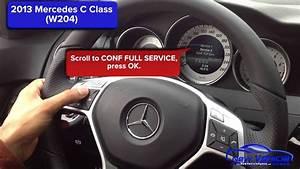 2013 Mercedes C250 Oil Light Reset    Service Light Reset