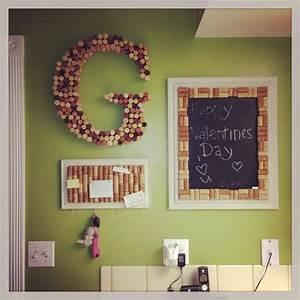 wine cork letter g wine cork picture frame key hanger With wine cork letter g