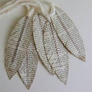 Deko Aus Papier : diy deko aus papier zeitung federn geschenkverpackung ~ Lizthompson.info Haus und Dekorationen
