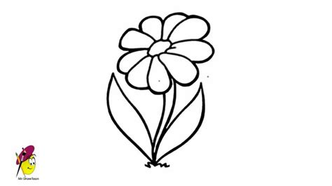 simple flower drawing   draw flower  easy