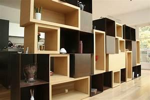 Caisson Bibliotheque Modulable : meuble modulable caissons bois m tal atelier luc germain ~ Edinachiropracticcenter.com Idées de Décoration