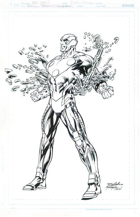 neal adams cover telos  inks richard friend superman
