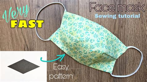 Face mask is one of many small item we usually need in everyday life. VERY FAST Easy pattern - How to make a fabric face mask ...