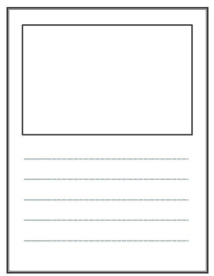 Blank Kindergarten Writing Paper Research Paper Objectives Blank