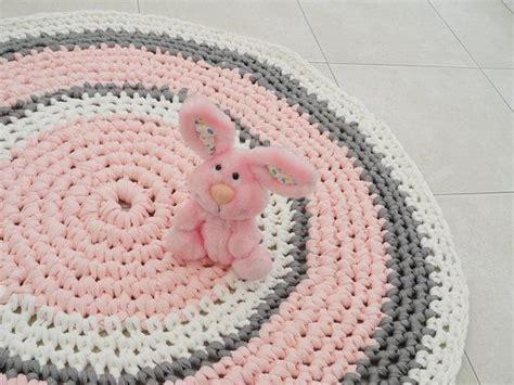 crochet rug  rug nursery girl rug bath mat bedroom