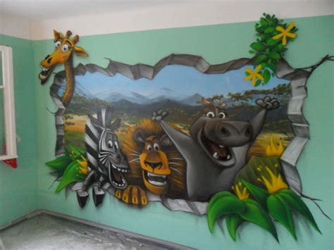 chambre disney deco graff chambre enfant madagascar disney 1decom fotolog