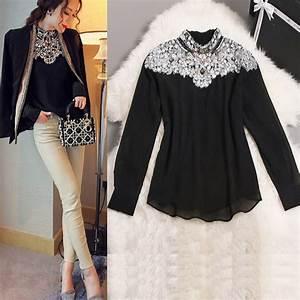 AMBMCM 2018 New Fashion Promotions trendy cozy fashion women clothes casual Blouse Diamond ...