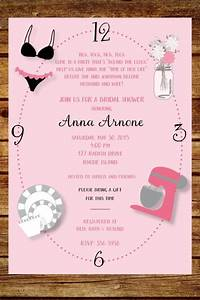 around the clock wedding shower invitation custom around With around the clock wedding shower invitations