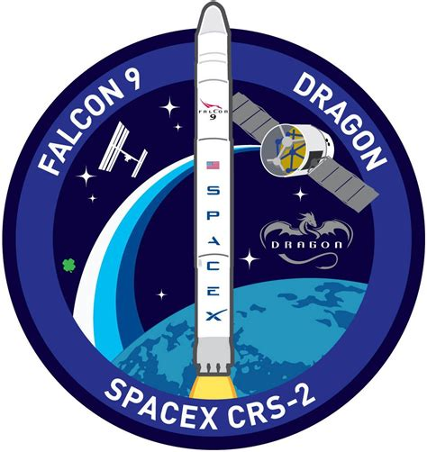 SpaceX's CRS-2 mission patch for the March 2013 flight to ...