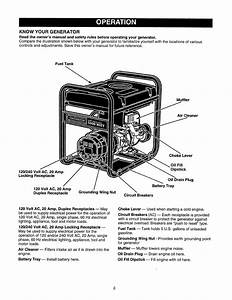 Craftsman 580327150 User Manual 2400 Watt Portable Ac