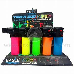 Eagle Gun Torch Lighter 15 Ct Pt101n  Neon   U2014 Arsh Novelties