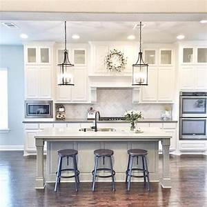 best 25 kitchen island decor ideas on pinterest kitchen With kitchen colors with white cabinets with 60 inch wall art