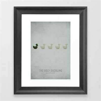 Framed Ugly Duckling Prints S6 Society6