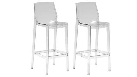 chaise de bar transparente tabourets de bar en plexi d 39 une hauteur d 39 assise de 75cm