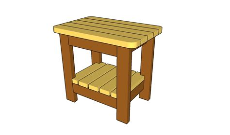 plans outdoor side table plans diy free design