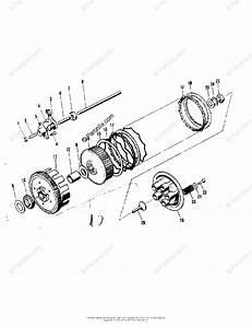 Kawasaki Motorcycle 1973 Oem Parts Diagram For Clutch   U0026 39 71 F7 F7