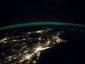 Cities at Night Panorama of Millions of US East Coast ...