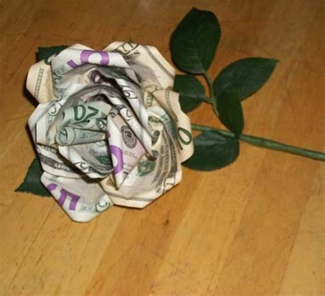 Money Roses Out Of Paper