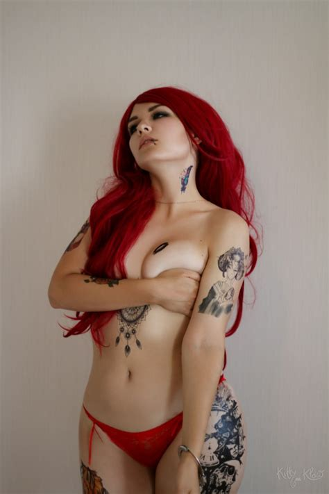 asmr kittyklaw lewd tattoo redhair lingerie photos thothub tv