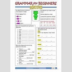 Grammar For Beginners Adjectives Worksheet  Free Esl Printable Worksheets Made By Teachers