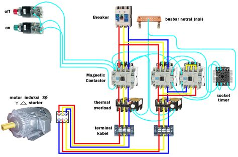star delta motor starter connection diagram  phase